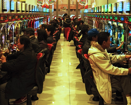 Pachinko Spielhalle in Japan  © Fritz Schumann